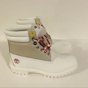 "Timberland Premium 6"" White Leather Boot"